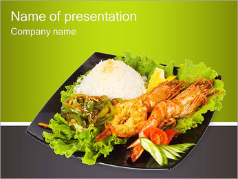 Grilled Lobster PowerPoint Template