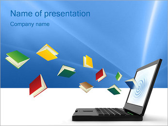 Internet Library PowerPoint Template - Slide 1