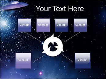 OVNI Modèles des présentations  PowerPoint - Diapositives 10