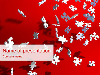 Falling Puzzles PowerPoint Template