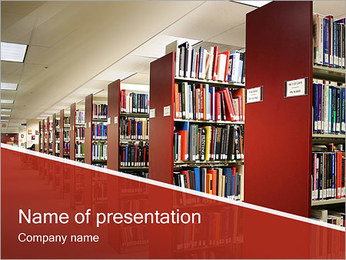 Library PowerPoint Template - Slide 1