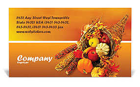 Thanksgiving Business Card Templates