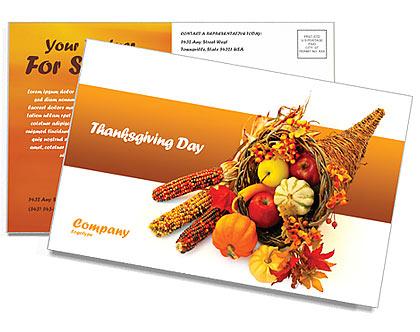 Acción de gracias Tarjetas Postale