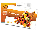 Thanksgiving Postcard Templates