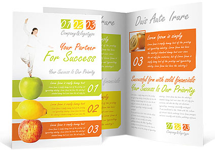 Fitness Brochure Template & Design Id 0000000722 - Smiletemplates.Com