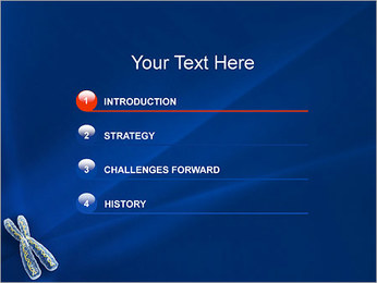 Chromosome Modèles des présentations  PowerPoint - Diapositives 3