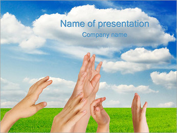 Children Hands PowerPoint Template