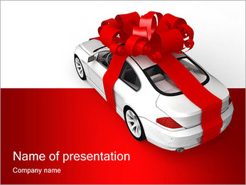Gift Car PowerPoint Template