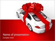 Gift Car PowerPoint Templates