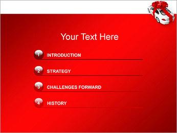 Voiture cadeaux Modèles des présentations  PowerPoint - Diapositives 3