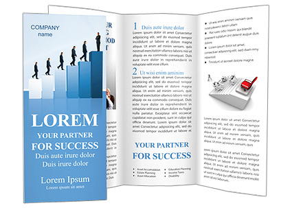 Successful career brochure template design id 0000000733 for Successful brochure design