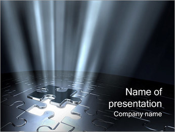 Last Jigsaw Puzzle Piece PowerPoint Template