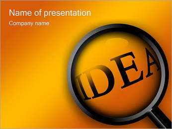 Search Ideas PowerPoint Template