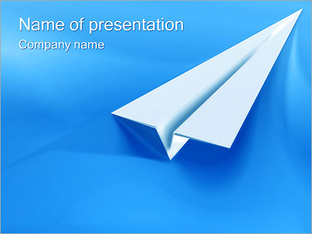 Paper Airplane Powerpoint Template  Backgrounds Id