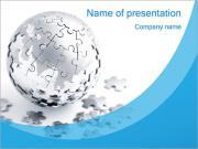Blue World Puzzle PowerPoint Templates