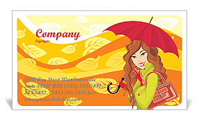 Autumn Season Business Card Templates