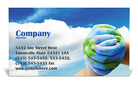 Mother Earth Business Card Template