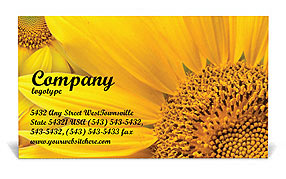 Sunflowers Business Card Templates