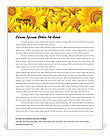 Sunflowers Letterhead Template