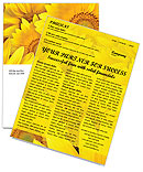 Sunflowers Newsletter Template