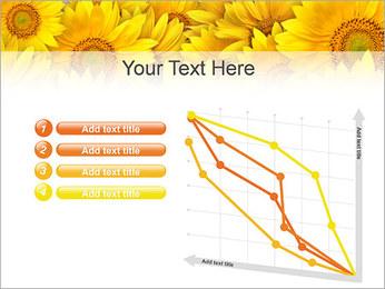 Tournesols Modèles des présentations  PowerPoint - Diapositives 13