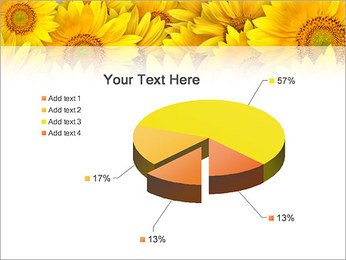 Tournesols Modèles des présentations  PowerPoint - Diapositives 19