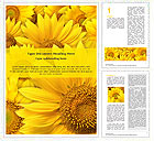 Sunflowers Word Templates