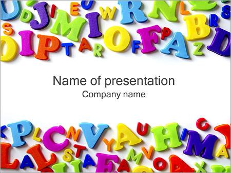 五颜六色的字母 PowerPoint演示模板