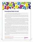 Colorful Letters Letterhead Template