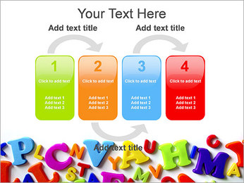 Colorful Letters PowerPoint Template - Slide 11