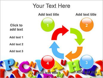 Colorful Letters PowerPoint Template - Slide 14