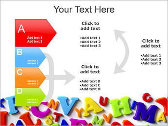 Colorful Letters PowerPoint Template - Slide 16
