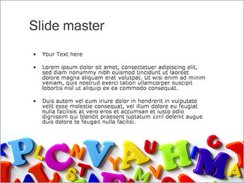 Colorful Letters PowerPoint Template - Slide 2