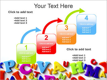 Colorful Letters PowerPoint Template - Slide 20