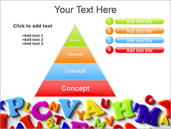 Colorful Letters PowerPoint Template - Slide 22