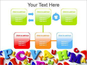 Colorful Letters PowerPoint Template - Slide 23