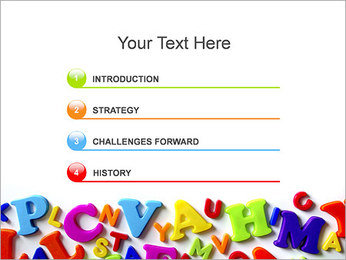 Colorful Letters PowerPoint Template - Slide 3