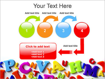 Colorful Letters PowerPoint Template - Slide 4