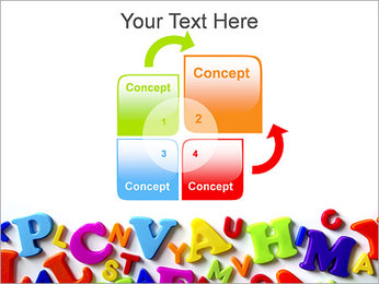 Colorful Letters PowerPoint Template - Slide 5