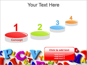 Colorful Letters PowerPoint Template - Slide 7