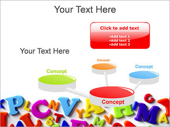 Colorful Letters PowerPoint Template - Slide 9