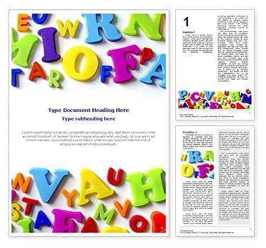 Colorful Letters Word Template & Design ID 0000000747 ...