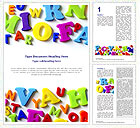 Colorful Letters Word Template