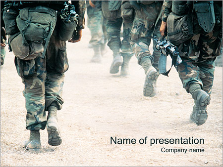 army powerpoint template & backgrounds id 0000000748, Modern powerpoint