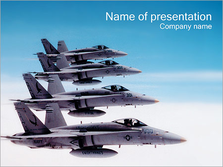 air forces powerpoint template & backgrounds id 0000000749, Modern powerpoint
