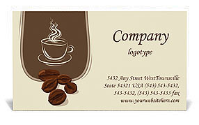 Coffee business card template design id 0000000750 coffee business card template colourmoves