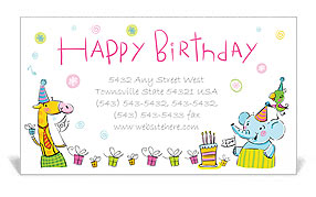 Birthday Business Card Template