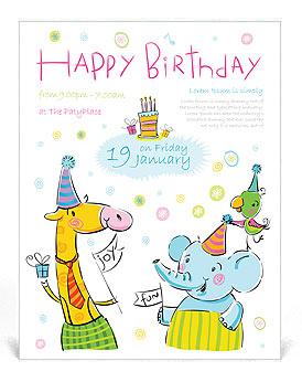 Cumpleaños Flyer