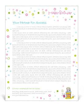 Birthday Letterhead Template