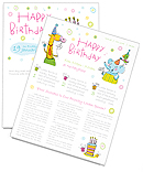 Birthday Newsletter Template